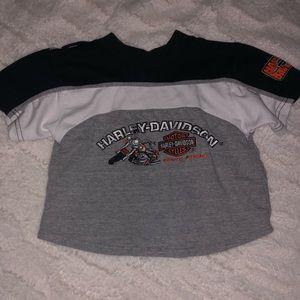 Vintage Harley Davidson Cropped T Shirt